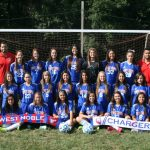 West Noble High School Girls Varsity Soccer beat East Noble High School 2-1