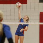 West Noble High School Girls Junior Varsity Volleyball falls to East Noble High School 1-2