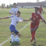 West Noble High School Boys Junior Varsity Soccer falls to Goshen High School 1-7