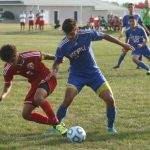 West Noble High School Boys Varsity Soccer falls to Goshen High School 3-6