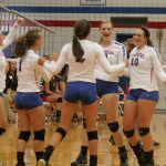 West Noble High School Girls Varsity Volleyball beat Fremont High School 3-0