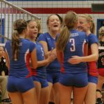 West Noble High School Girls Junior Varsity Volleyball beat Fremont High School 2-0