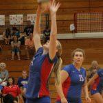 West Noble High School Girls Junior Varsity Volleyball beat Garrett High School 2-0