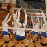West Noble High School Girls Varsity Volleyball beat Angola High School 3-0