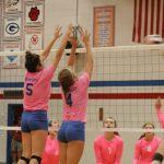 West Noble High School Girls Varsity Volleyball beat Lakeland High School 3-0