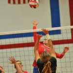 West Noble High School Girls Varsity Volleyball beat Wawasee High School 3-0