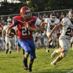 West Noble High School Varsity Football beat Central Noble High School 21-12