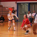 West Noble High School Girls Varsity Volleyball beat Goshen High School 3-0