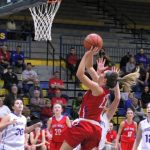 West Noble High School Girls Varsity Basketball falls to East Noble High School 53-44
