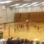 West Noble High School Girls Varsity Volleyball beat Westview High School 3-0