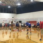 West Noble High School Girls Varsity Volleyball beat vs Hamilton H.S. 3-0