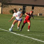 Lady Chargers Tie Goshen in Girls Soccer on Senior Night