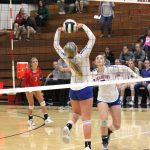 West Noble High School Girls Varsity Volleyball beat Sectional vs. Wawasee at NorthWood 3-0
