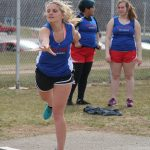 Lady Falcons Edge Chargers in Girls Track
