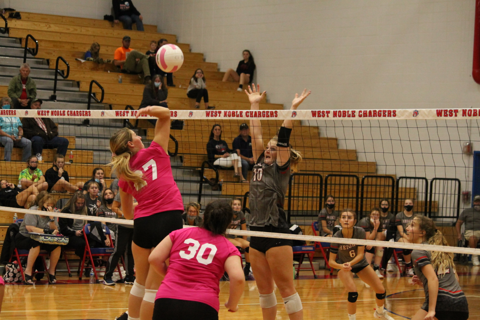 West Noble Volleyball Vs. Prairie Heights(Shaw Photography)