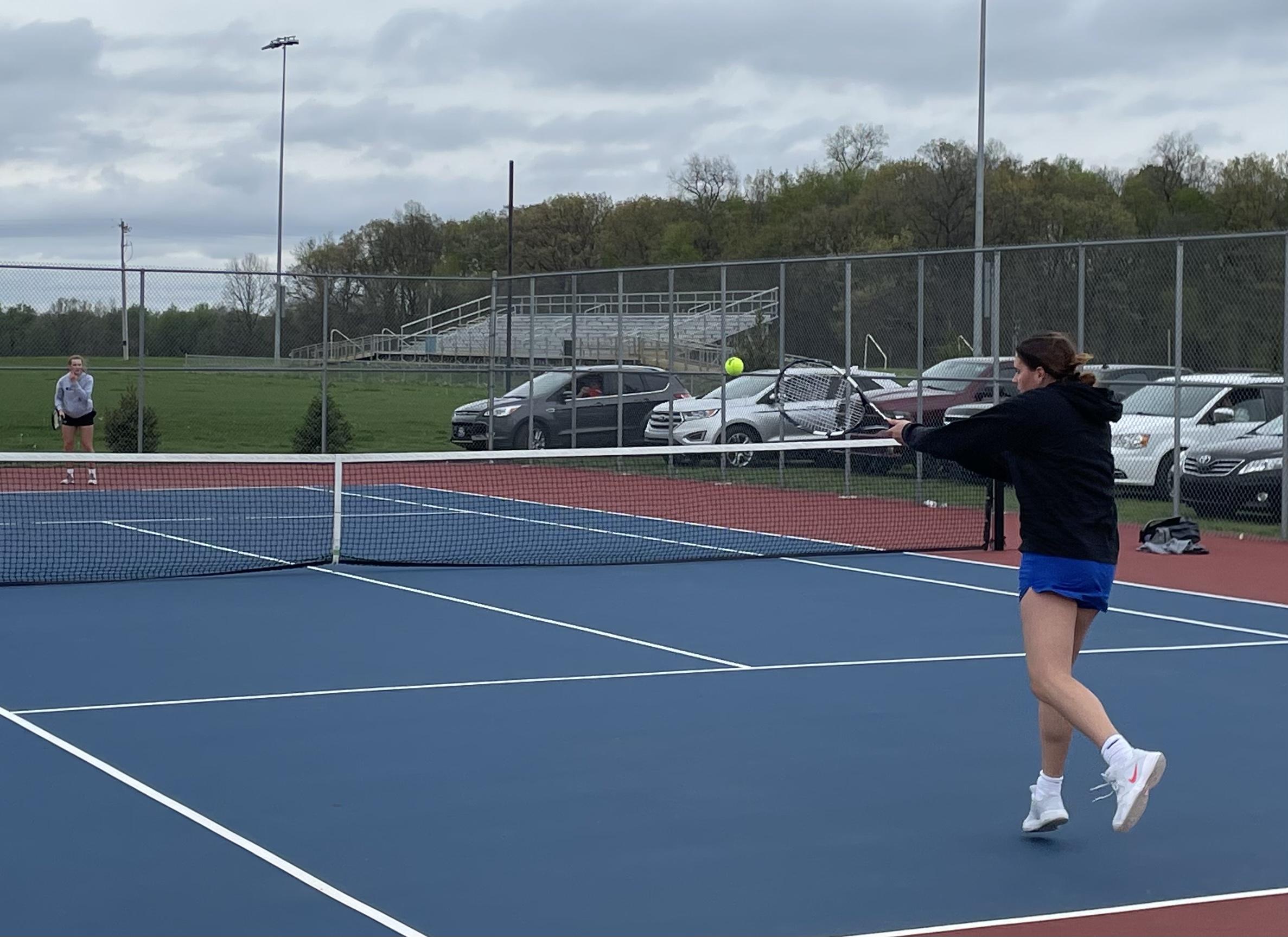 Girls Varsity Tennis beats Central Noble 3 – 2