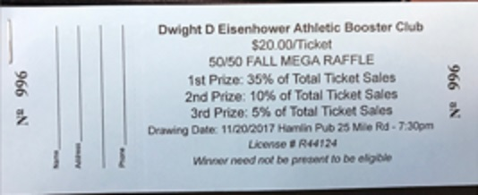 The Eisenhower Athletic Booster Club Fall Mega Raffle