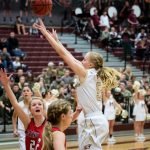 Maple Mountain High School Girls Varsity Basketball falls to Springville High School 54-49