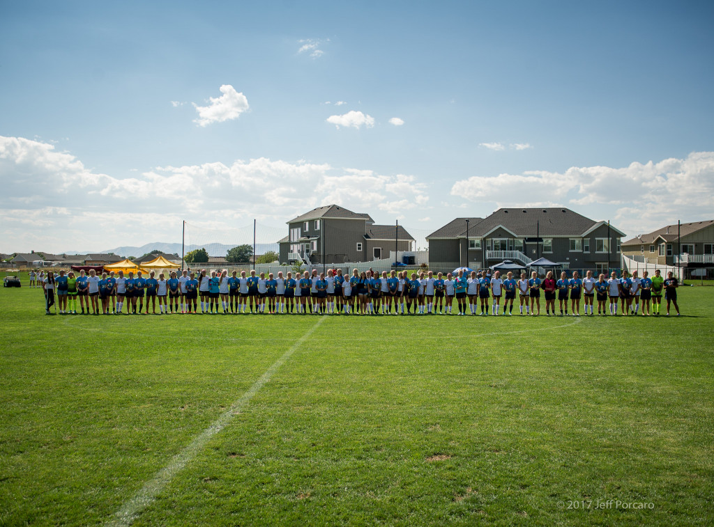 Maple Mountain Soccer Team Honors Salem Hills Goalie who is in treatment for Leukemia