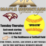 Softball Fall Open Gym
