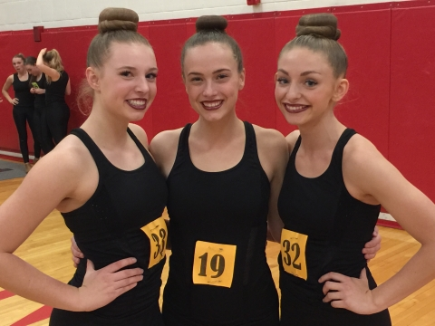 Three MMHS Ellevés Named to 2017-2018 5A All-State Drill Team