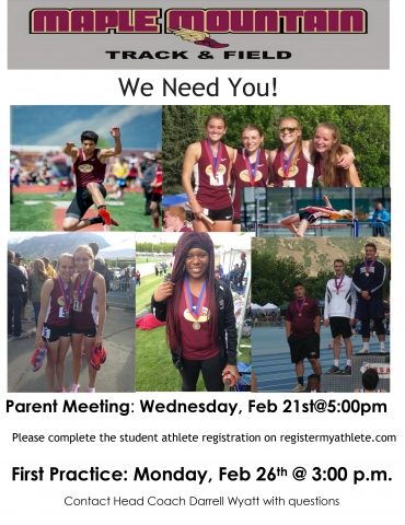 2018 Spring Track and Field Information