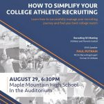 "Paul Putnam Presents: ""How to Simplify College Athletic Recruiting"" – Wed Aug 29, 6:30p"
