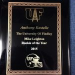 Kastelic Named Rookie of the Year at Findlay