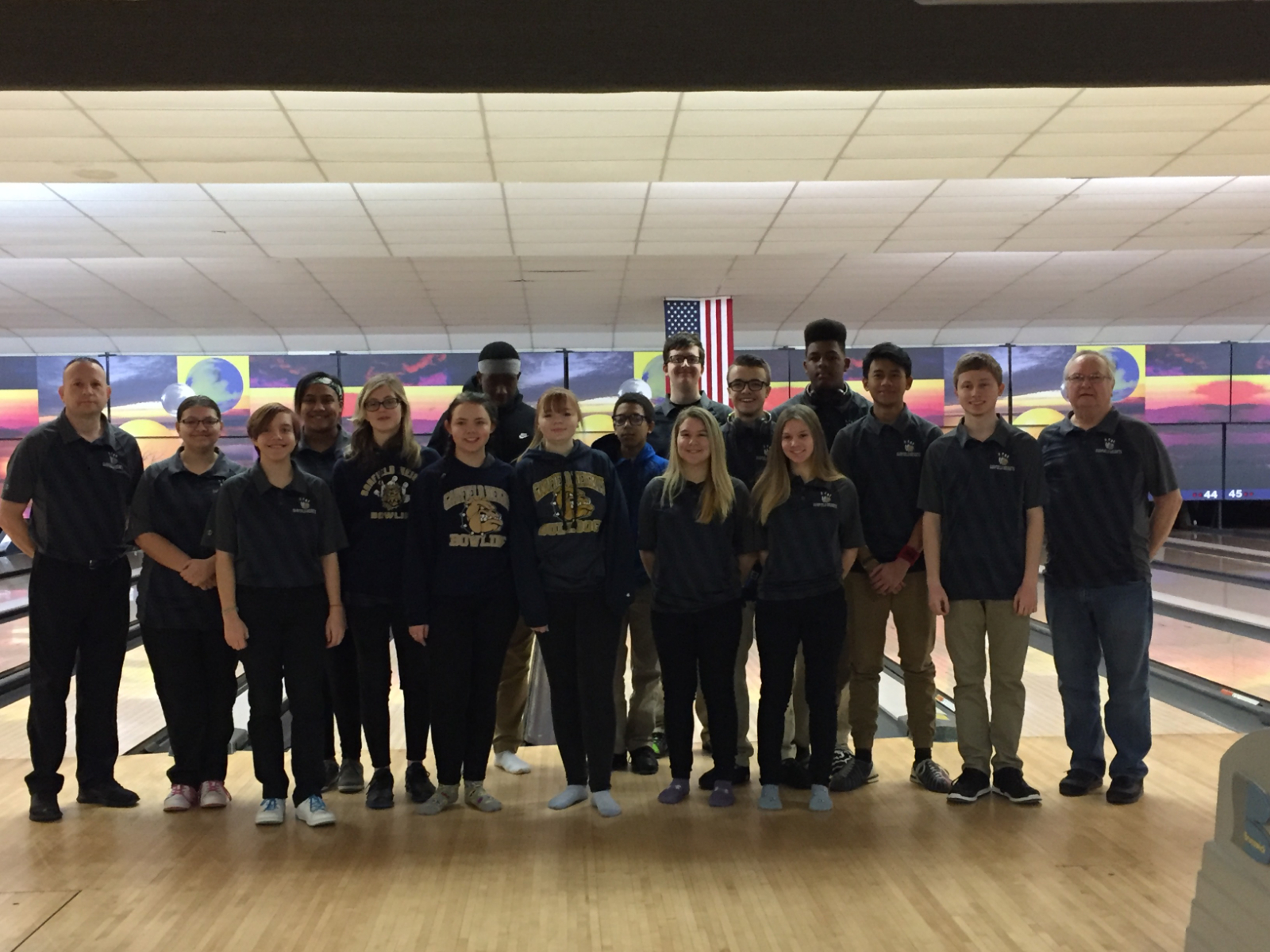 Boys and Girls Bowling