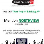 YOU GOTTA EAT!  Burger 21 Aug 3rd & 4th