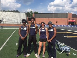 4 track athletes go to state and 4 come out in the top 8!!