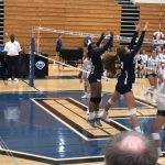 Girls Varsity Volleyball falls to Pope 2 – 0