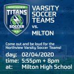 02/04/2020 – VG and VB Soccer Games vs Milton
