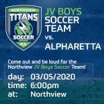 JV Soccer Boys vs. Apharetta