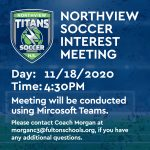 Northview Soccer Interest Meeting 11/18/2020