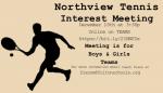 Northview Tennis Interest Meeting