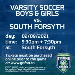Upcoming Northview Varsity Soccer Games