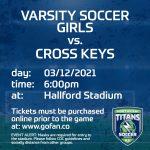 Varsity Soccer Girls Face Cross Keys Tonight (3/12)!