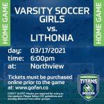 Varsity Soccer Girls Face Lithonia At Home!