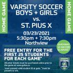 Varsity Soccer Teams Face BIGGEST GAME OF SEASON on 3/23!
