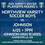 4/21 Varsity Soccer Boys Playoffs Round 1!