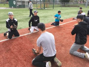 Tigard Baseball Players Host Tigard Youth at Their Annual Instructional Clinc.