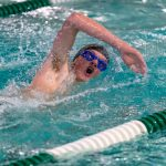 Boys Varsity Swimming beats Canby 87 – 82