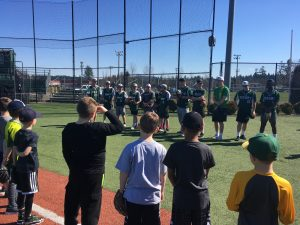 Tigard Baseball Players Host Future Tigers