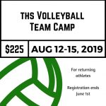 High School Volleyball Team Camp Registration now Open!