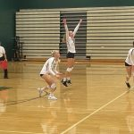 Varsity Volleyball wins in 3 against St. Mary's