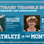 And the Tigard Triangle Smiles Dentistry & Orthodontics October Athlete of the Month is….