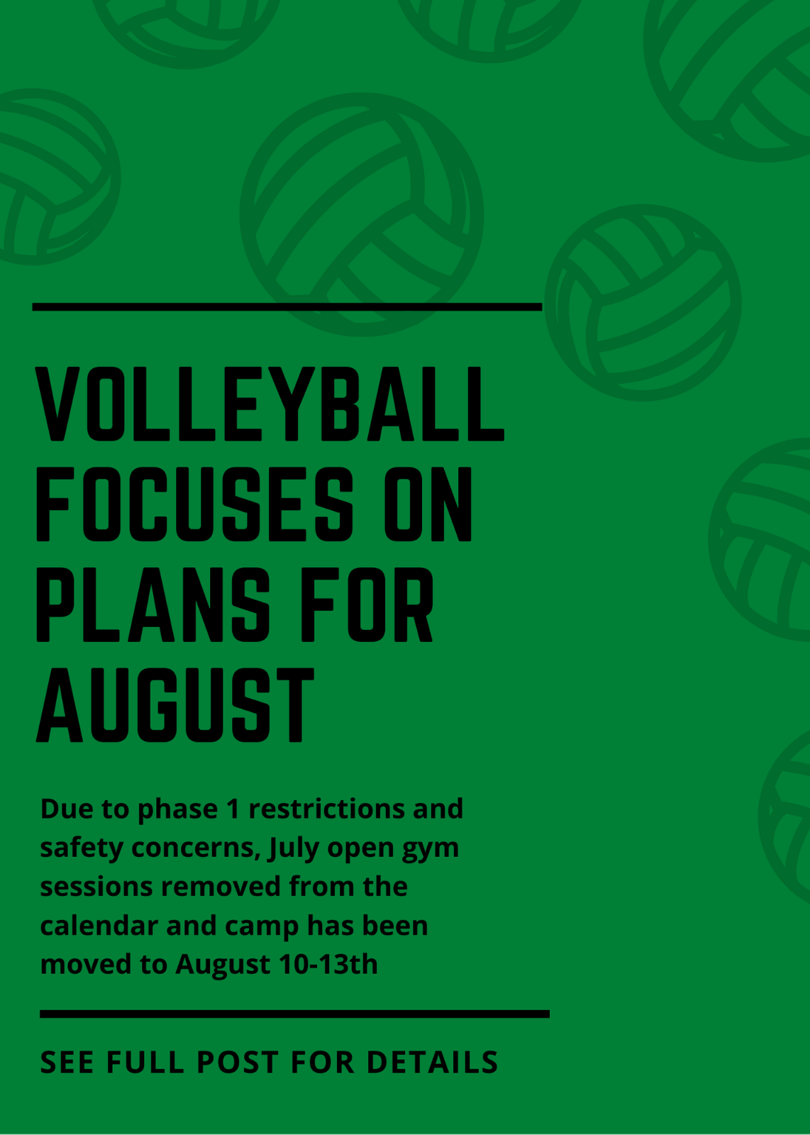 Tigard Volleyball focuses on plans for August