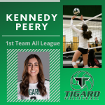 Kennedy Peery receives 1st Team All League Recognition for Tigard Volleyball