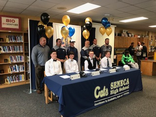 Four Seneca High School Baseball Players Sign Letters of Intent